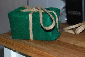 FElt and burlap wrapping