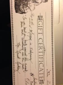 February Book ticket