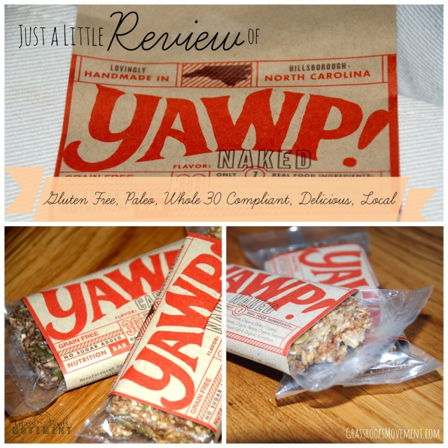 Whole 30, Paleo, Gluten Free, Delicious Yawp Bars